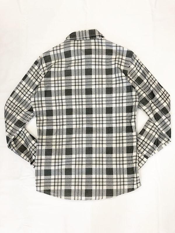 バックボーン ベーシック BACK BONE THE BASIC ネルシャツ S ホワイト ブラック 送料520円 チェック 白 黒 北原哲夫 _画像2