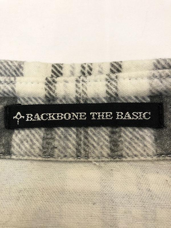 バックボーン ベーシック BACK BONE THE BASIC ネルシャツ S ホワイト ブラック 送料520円 チェック 白 黒 北原哲夫 _画像5
