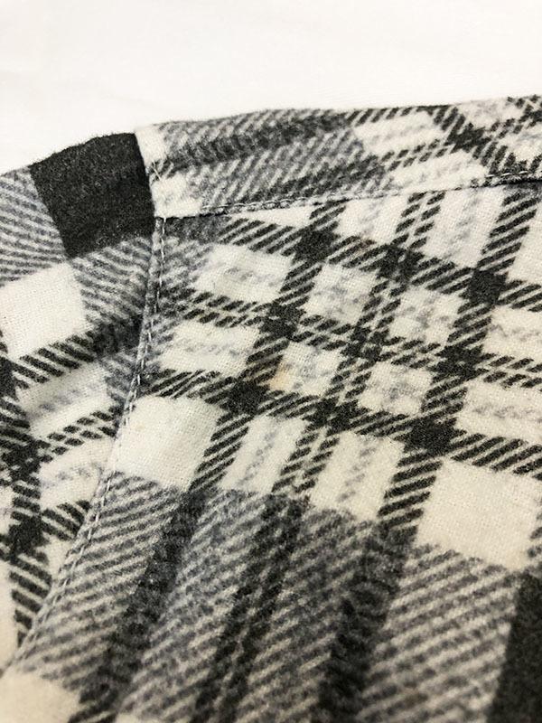 バックボーン ベーシック BACK BONE THE BASIC ネルシャツ S ホワイト ブラック 送料520円 チェック 白 黒 北原哲夫 _画像7