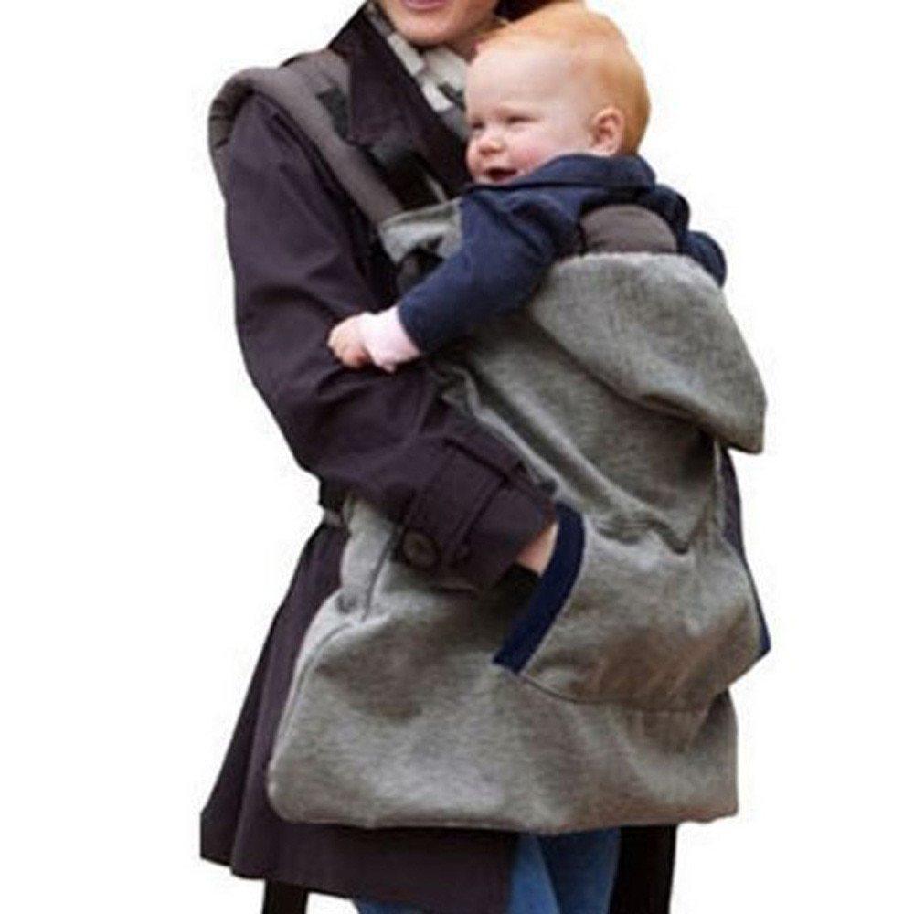 <ママさん応援♪>寒い日にぴったり!!フード付きキャリアカバー☆ベビー 新生児 抱っこ紐 カバー マント ファッション 冬 グレー RU100_画像8