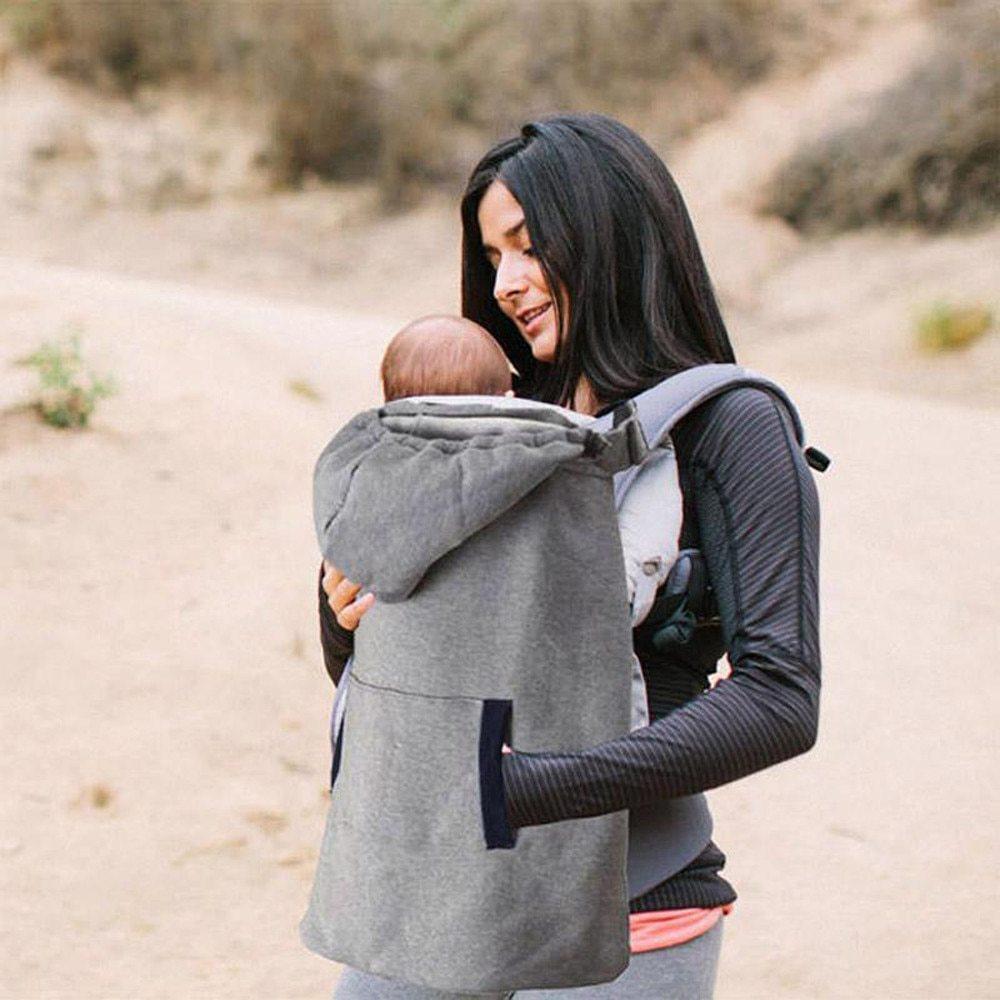 <ママさん応援♪>寒い日にぴったり!!フード付きキャリアカバー☆ベビー 新生児 抱っこ紐 カバー マント ファッション 冬 グレー RU100_画像7