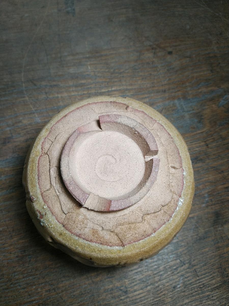 赤膚山 赤膚焼 初期赤膚焼 珍品 旧家 うぶだし 奈良県 茶道具 茶碗_画像6