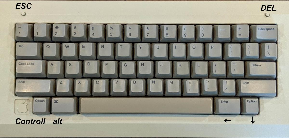 Apple Macintosh 128K ショートキーボード 超レア品 Bluetooth_画像7
