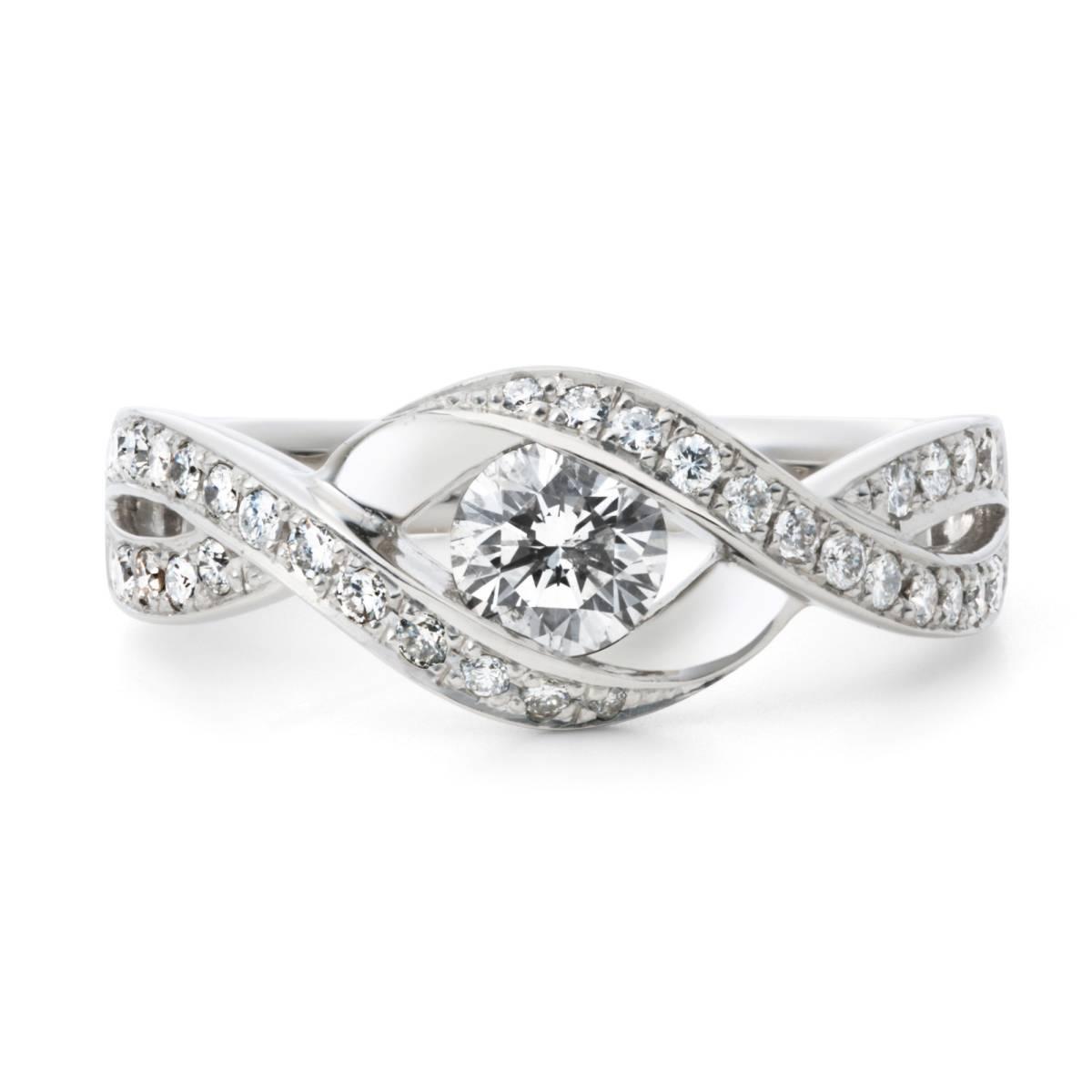 ★★★ハイセンス 最高級 Fカラーの輝き 極上 ダイヤモンド 0.772ct インフィニティ デザイン プラチナ pt900 リング