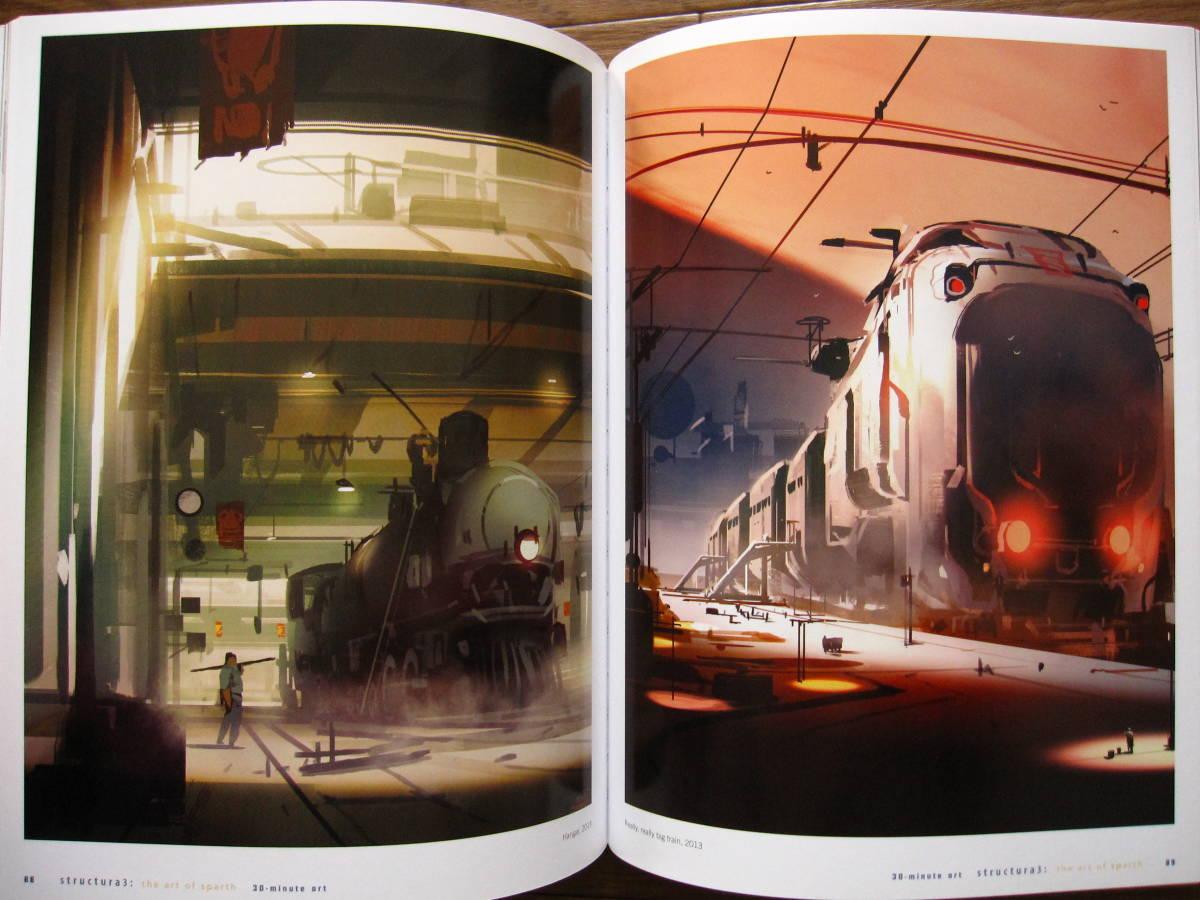 絶版 希少本 洋書 Structura 3 : The Art of Sparth / Sparth : Nicolas Bouvier / ペーパーバック版_画像3