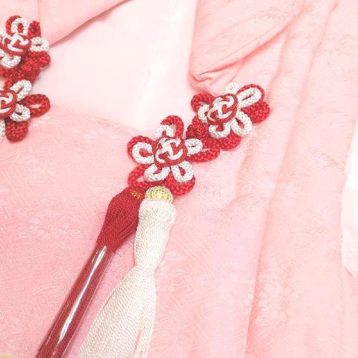 七五三 着物 mi466 3歳 正絹被布コート 絞り ピンク 日本製_画像3