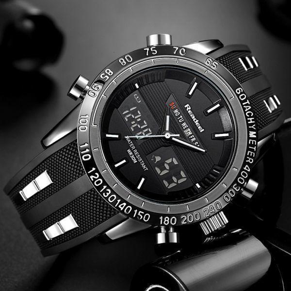 高級ブランド腕時計メンズ用スポーツ腕時計防水 LED デジタルクォーツメンズミリタリー腕時計時計メンズレロジオ Masculino_画像1