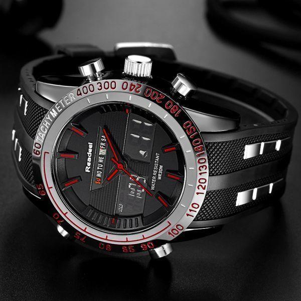 高級ブランド腕時計メンズ用スポーツ腕時計防水 LED デジタルクォーツメンズミリタリー腕時計時計メンズレロジオ Masculino_画像4