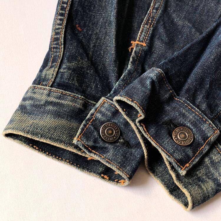 美色! 60s 70s Levi's 70505 ビッグE デニムジャケット 40 ビンテージ 60年代 70年代 リーバイス Gジャン ジージャン オリジナル 557後継_画像7