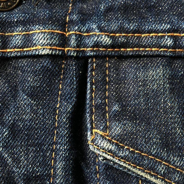 美色! 60s 70s Levi's 70505 ビッグE デニムジャケット 40 ビンテージ 60年代 70年代 リーバイス Gジャン ジージャン オリジナル 557後継_画像5
