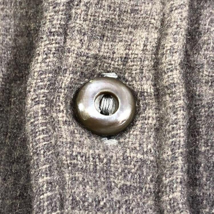 30s 40s PENDLETON オンブレ フェイクプルオーバー ウール シャツ ビンテージ 30年代 40年代 ペンドルトン シャドーチェック オリジナル_画像6