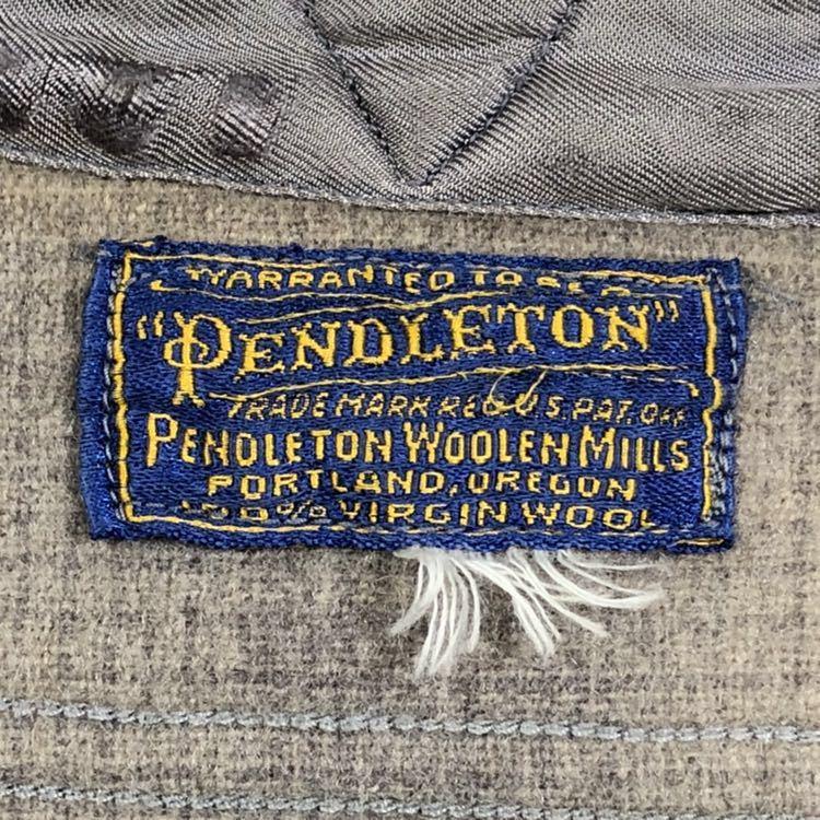 30s 40s PENDLETON オンブレ フェイクプルオーバー ウール シャツ ビンテージ 30年代 40年代 ペンドルトン シャドーチェック オリジナル_画像3