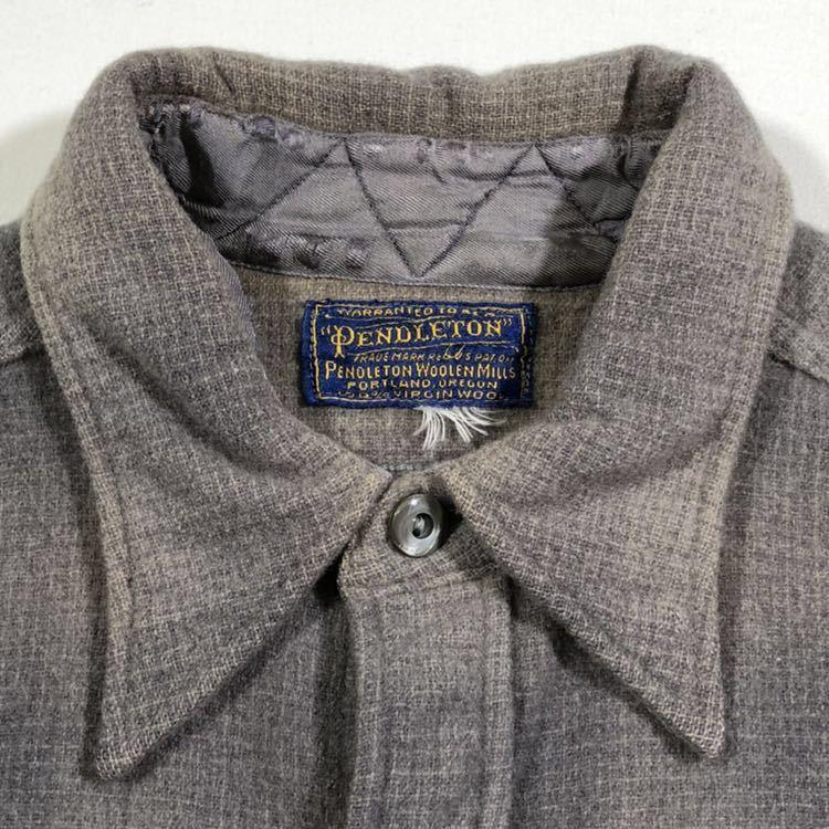 30s 40s PENDLETON オンブレ フェイクプルオーバー ウール シャツ ビンテージ 30年代 40年代 ペンドルトン シャドーチェック オリジナル_画像4