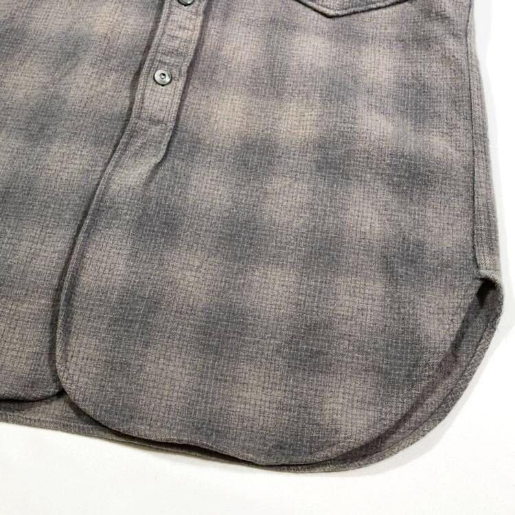 30s 40s PENDLETON オンブレ フェイクプルオーバー ウール シャツ ビンテージ 30年代 40年代 ペンドルトン シャドーチェック オリジナル_画像7