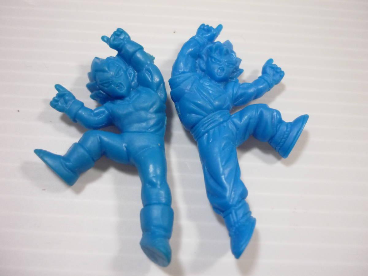 【送料無料・当時物】ドラゴンボールZ / 消しゴム ドラ消し / パート27 / 悟空 ベジータ フュージョン 青色_画像3