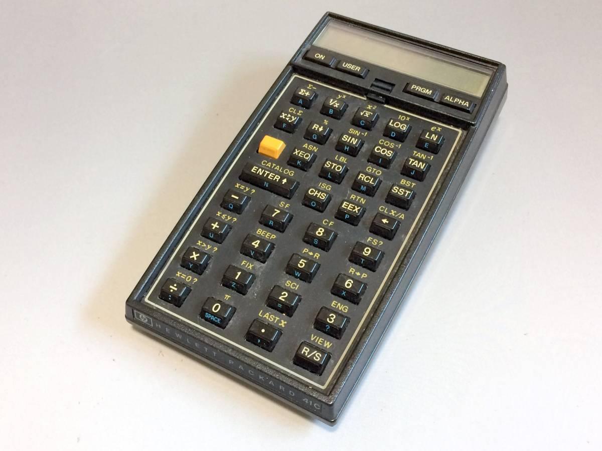 ★希少★ プログラム関数電卓 HP-41C ヒューレット・パッカード 逆ポーランド法 RPN法 システム電卓_画像1