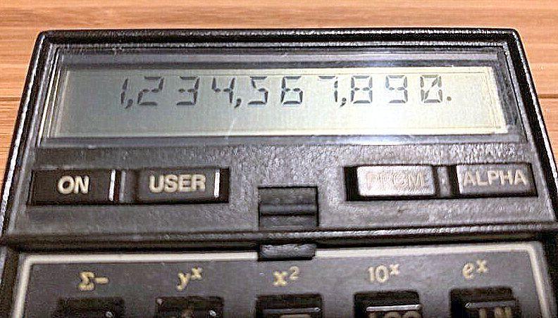 ★希少★ プログラム関数電卓 HP-41C ヒューレット・パッカード 逆ポーランド法 RPN法 システム電卓_画像7