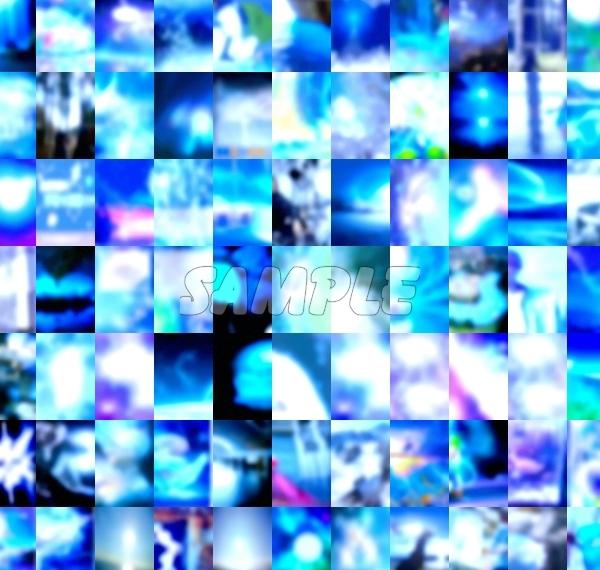●CG art●Original copyright free◆Light fantasy blue Underwater◆Fantasy print high resolution image picture 1,201 items_画像3