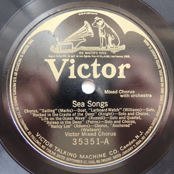 SP VICTOR MIXED CHORUS SEA SONGS / WAR SONGS 米盤_画像3