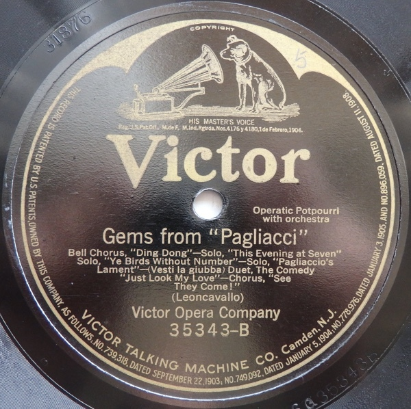 SP VICTOR OPERA COMPANY GEMS FROM CAVALLERIA RUSTICANA / GEMS FROM PAGLIACCI 米盤_画像4