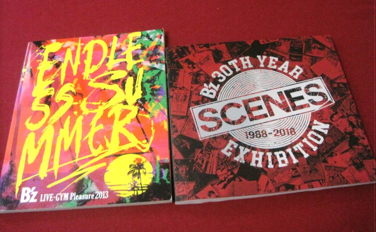 ■ B'z パンフレット2冊セット LIVE-GYM Pleasure 2013 ENDLESS SUMMER / 30th Year Exhibition SCENES 1988-2018 松本孝弘 稲葉浩志