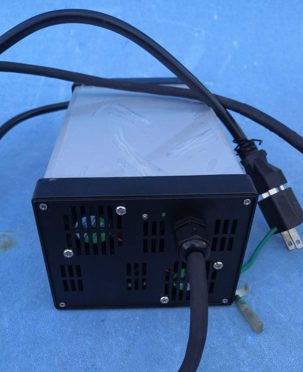 リーフバッテリーユニット10枚用コムスの電池交換後の充電器84V10A充電動作確認しました_画像5