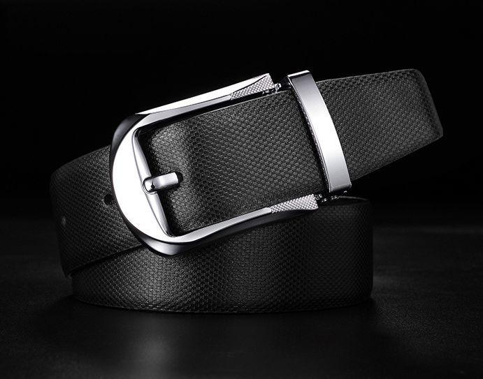 ■■新品♪ビジネスに最適ドット柄牛革ベルト黒ブラック長尺125cm3【メンズレディース人気ブランド2020福袋ホワイトデーギフト】