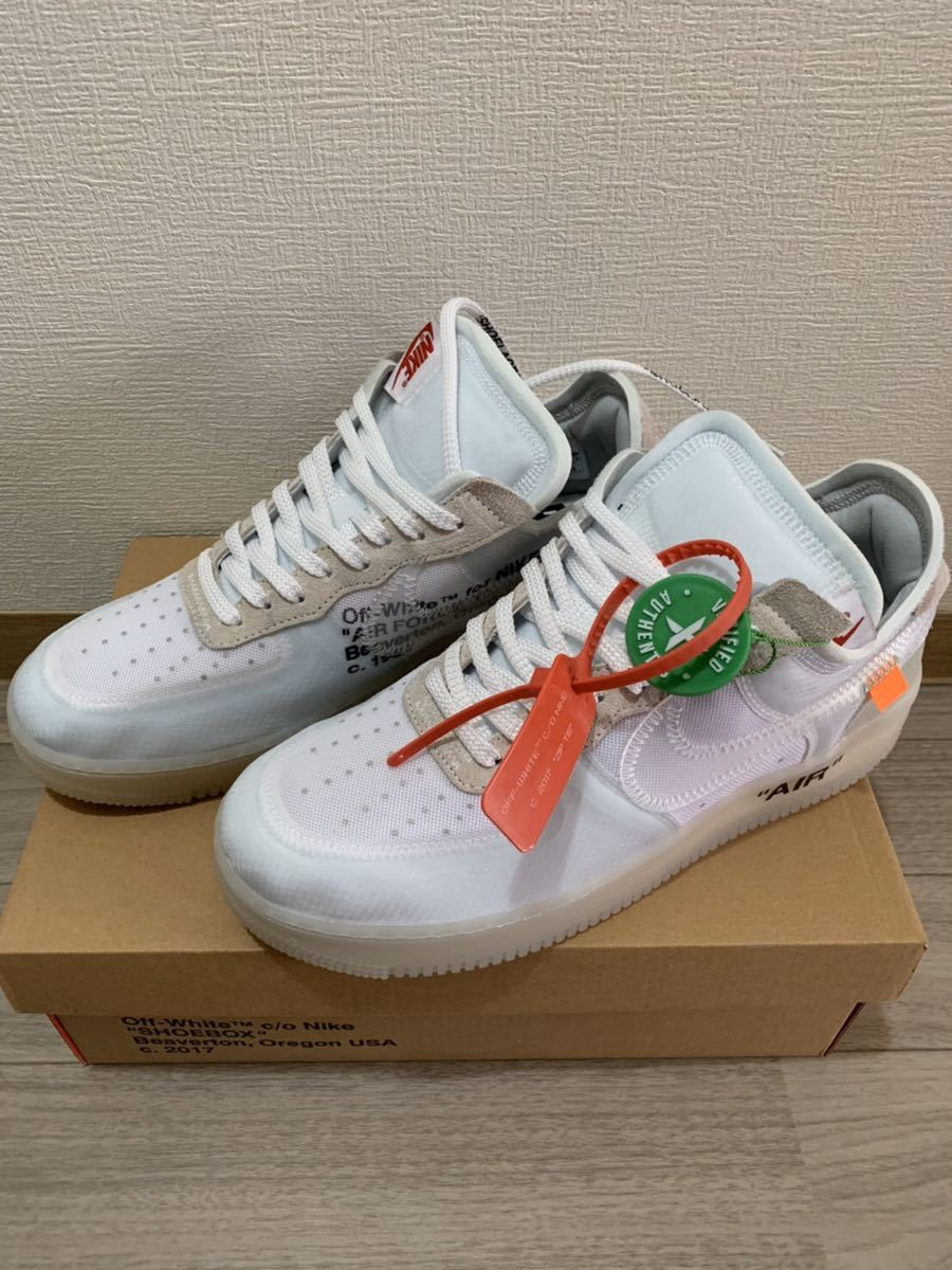 OFF WHITE オフホワイト ×NIKE THE 10 AIR FORCE 1 LOW AO4606-100