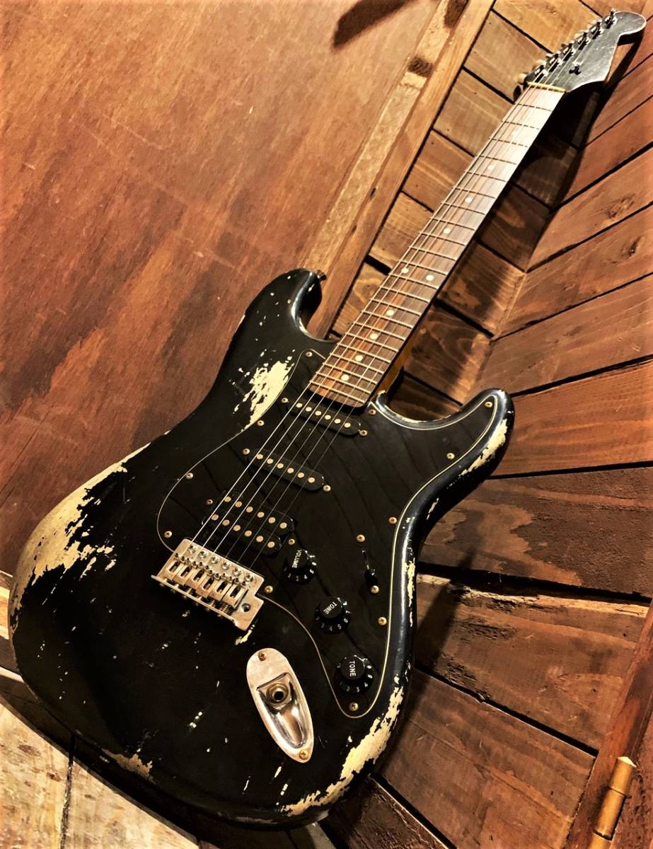 【Aged&Relic Custom/Stratocaster/Aged Black/ストラト/エレキギター/エイジド・レリック加工/一点物】