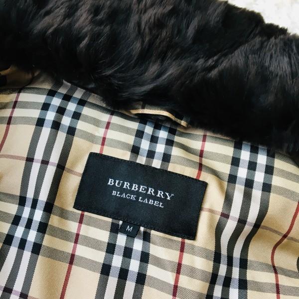 07328 超美品 ダウン95% バーバリーブラックレーベル BURBERRY BLACK LABEL メンズ ダウンジャケット M ブラウン ノバチェック_画像8