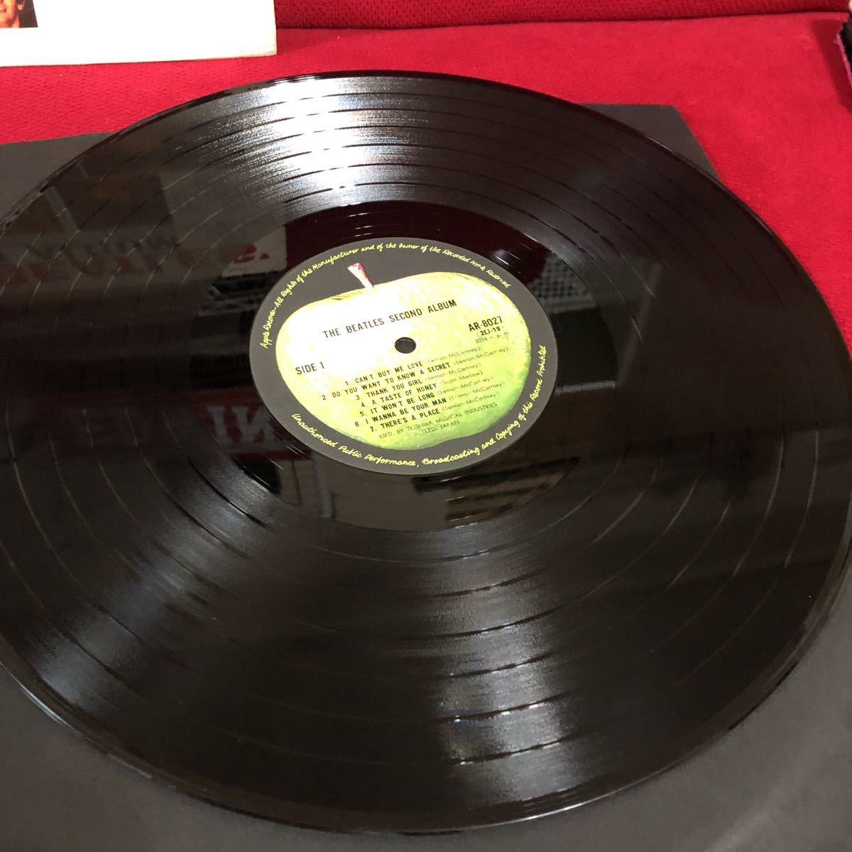 LPレコード★洋楽★THE BEATLES ★ビートルズNO.2!★SECOND ALBUM ★レコード多数出品中  紙ジャケ_画像4