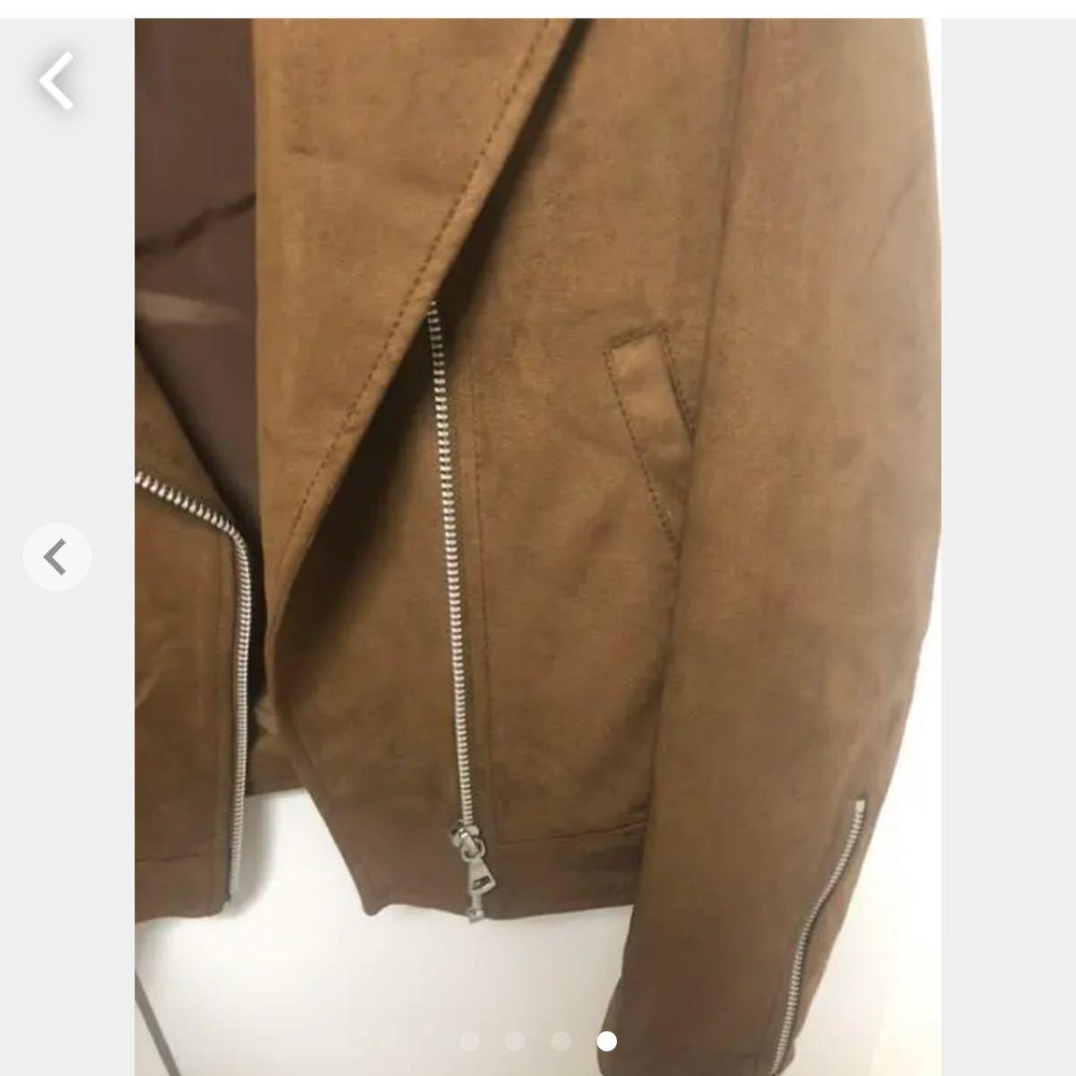 スエード ジャケット ライダースジャケット