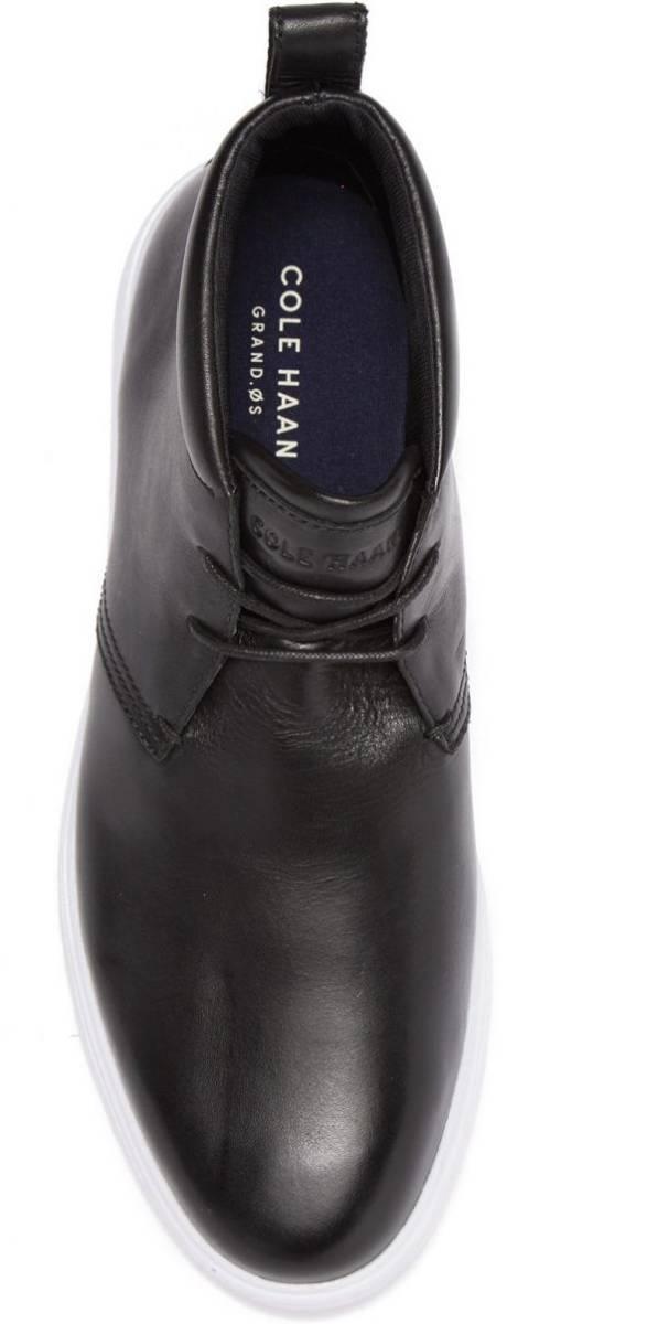 Cole Haan 28.5cm チャッカ ブラック 黒 ブーツ スニーカー レザー 革 レースアップ ビジネス ローファー スリッポン ZZ22_画像8