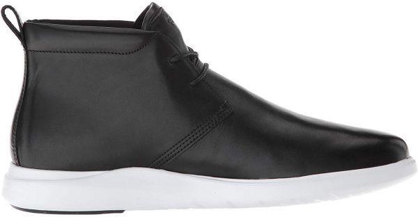 Cole Haan 28.5cm チャッカ ブラック 黒 ブーツ スニーカー レザー 革 レースアップ ビジネス ローファー スリッポン ZZ22_画像2