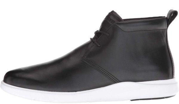 Cole Haan 28.5cm チャッカ ブラック 黒 ブーツ スニーカー レザー 革 レースアップ ビジネス ローファー スリッポン ZZ22_画像5