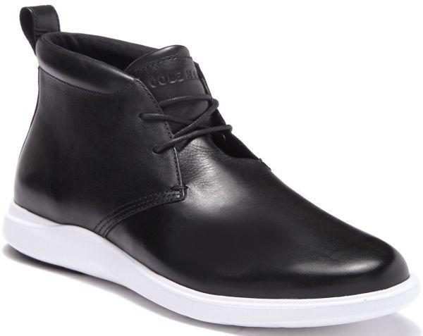 Cole Haan 28.5cm チャッカ ブラック 黒 ブーツ スニーカー レザー 革 レースアップ ビジネス ローファー スリッポン ZZ22_画像1