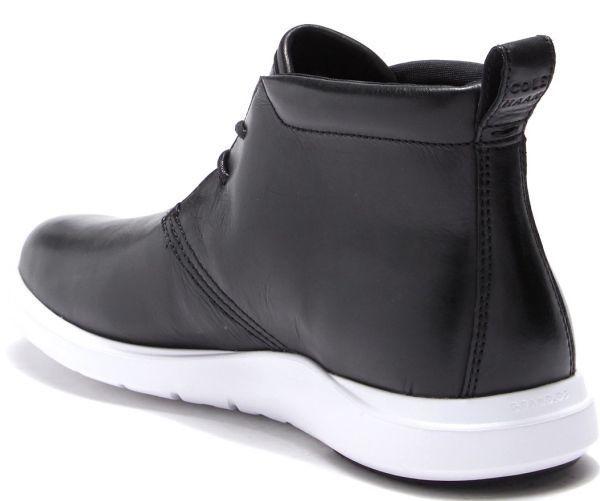 Cole Haan 28.5cm チャッカ ブラック 黒 ブーツ スニーカー レザー 革 レースアップ ビジネス ローファー スリッポン ZZ22_画像3