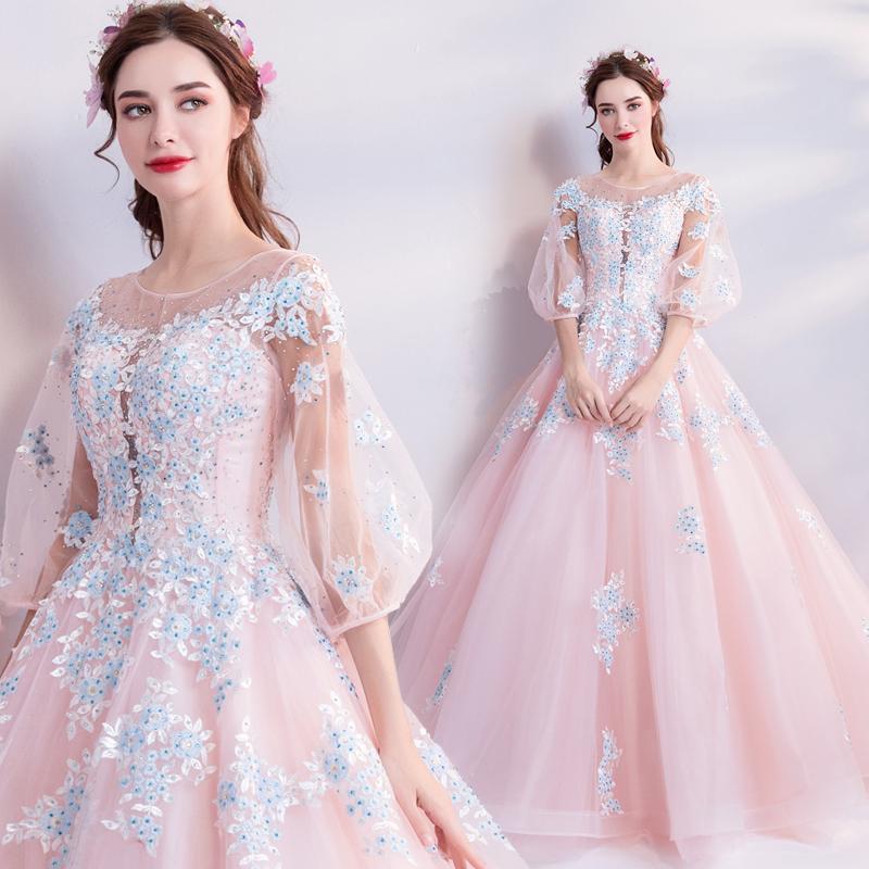 素敵なカラードレス 結婚式 披露宴 お色直し 二次会 パーティー 演奏会 発表会 ステージ衣装 TS301_画像10