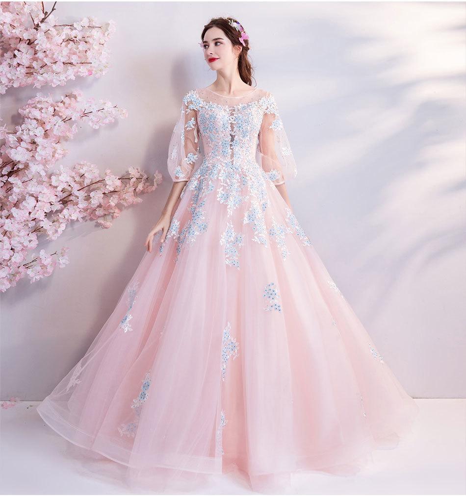 素敵なカラードレス 結婚式 披露宴 お色直し 二次会 パーティー 演奏会 発表会 ステージ衣装 TS301_画像8