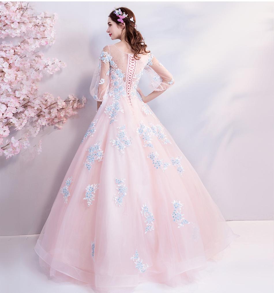 素敵なカラードレス 結婚式 披露宴 お色直し 二次会 パーティー 演奏会 発表会 ステージ衣装 TS301_画像9