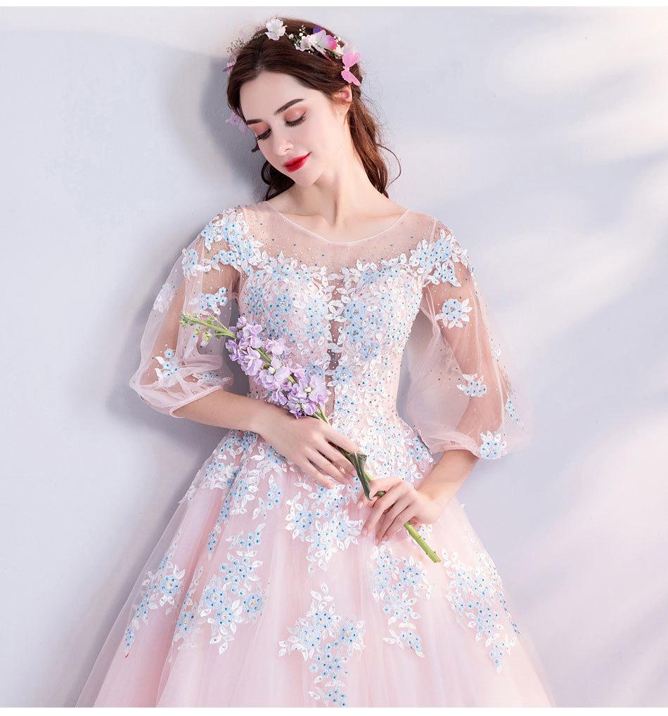 素敵なカラードレス 結婚式 披露宴 お色直し 二次会 パーティー 演奏会 発表会 ステージ衣装 TS301_画像7