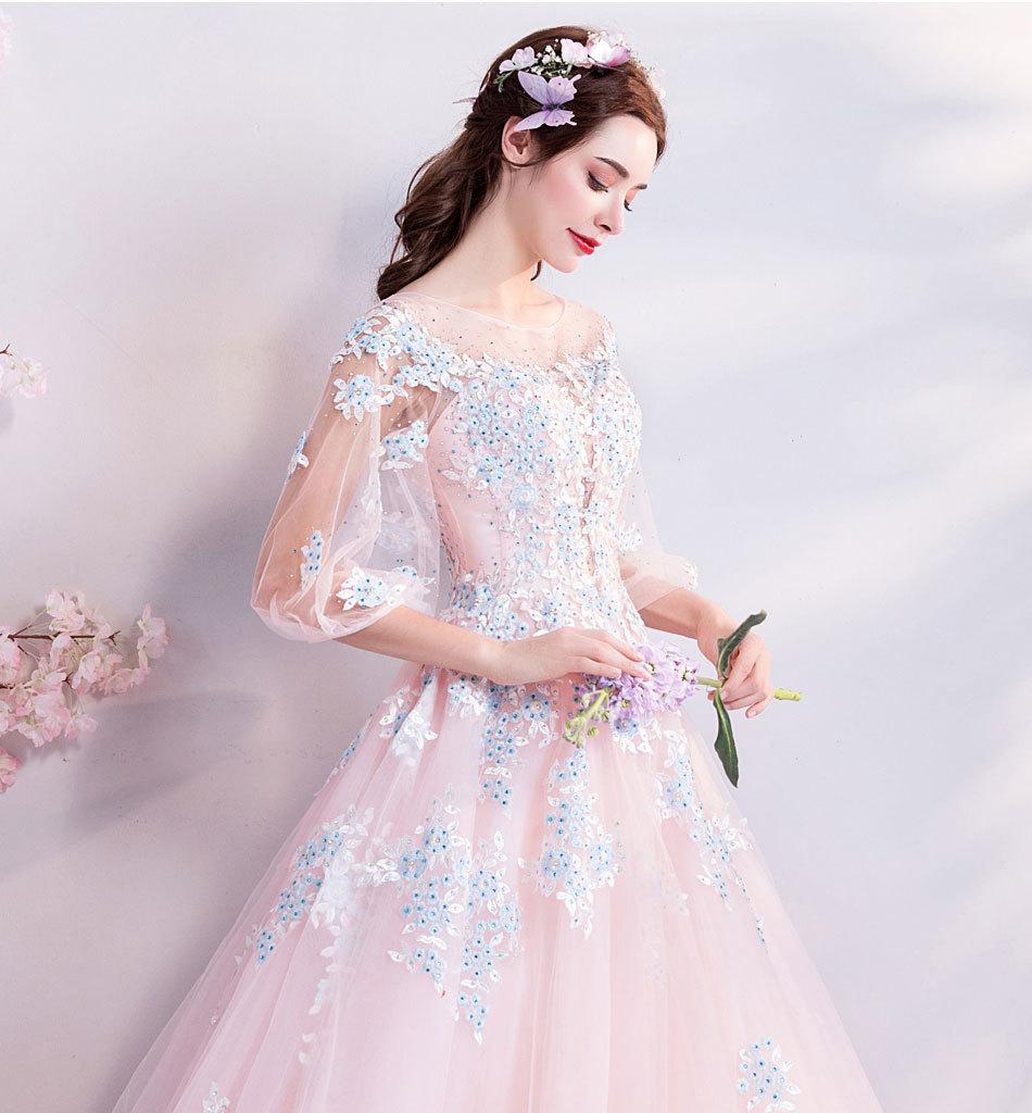 素敵なカラードレス 結婚式 披露宴 お色直し 二次会 パーティー 演奏会 発表会 ステージ衣装 TS301_画像4