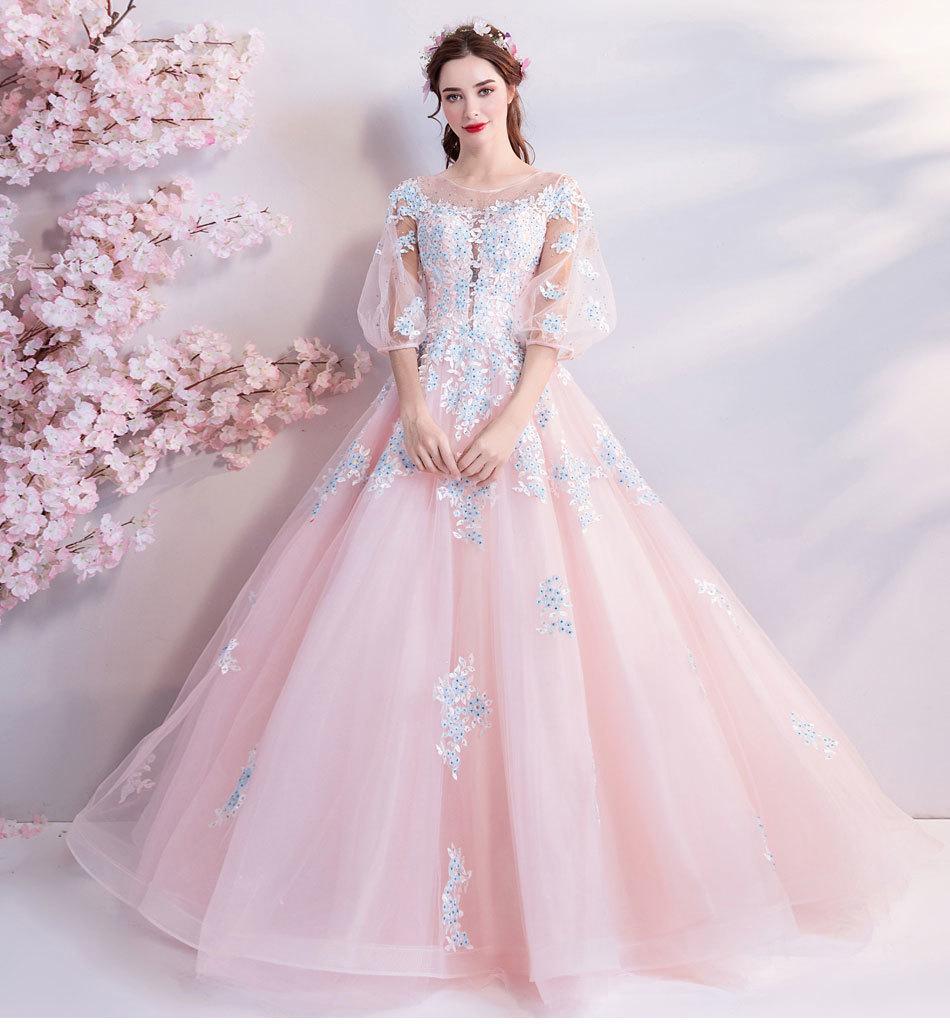 素敵なカラードレス 結婚式 披露宴 お色直し 二次会 パーティー 演奏会 発表会 ステージ衣装 TS301_画像6
