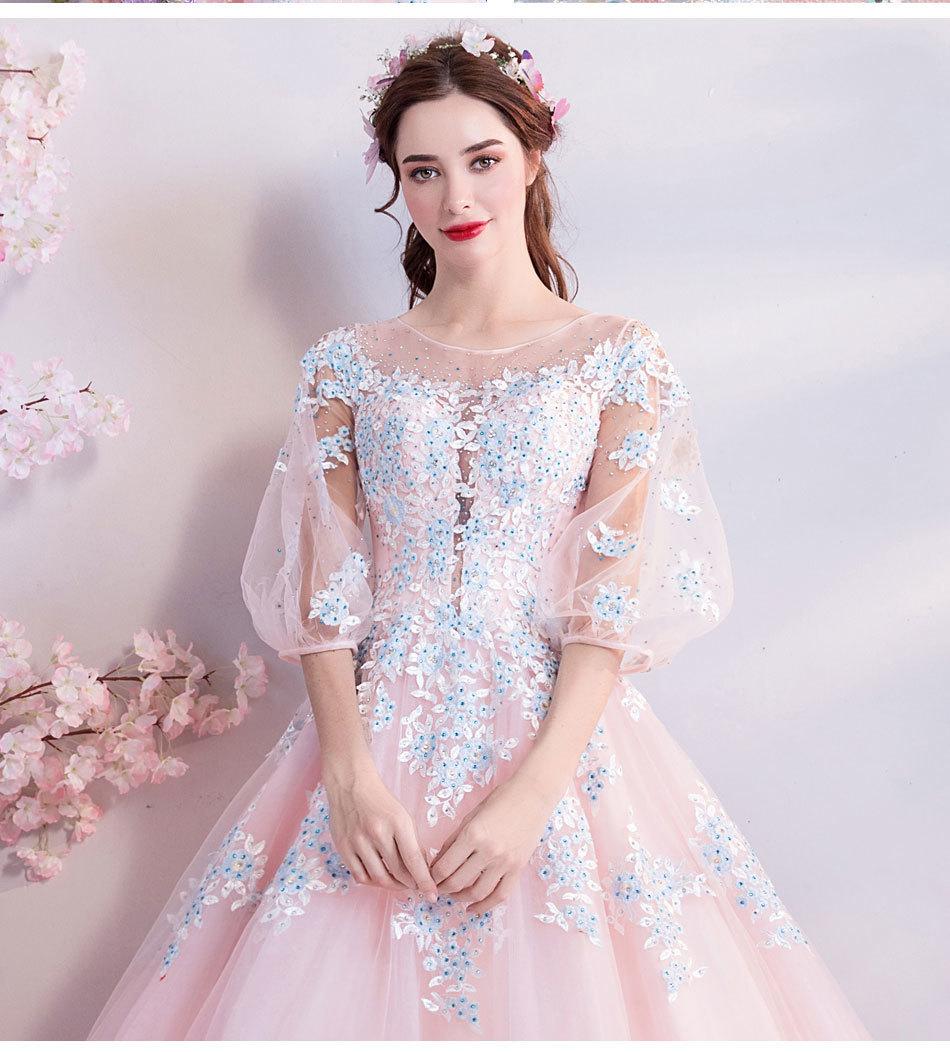 素敵なカラードレス 結婚式 披露宴 お色直し 二次会 パーティー 演奏会 発表会 ステージ衣装 TS301_画像3
