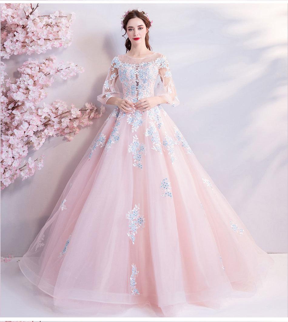 素敵なカラードレス 結婚式 披露宴 お色直し 二次会 パーティー 演奏会 発表会 ステージ衣装 TS301_画像1