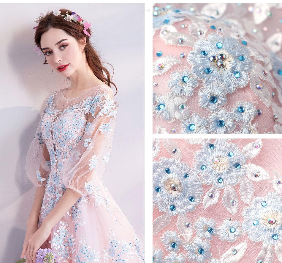 素敵なカラードレス 結婚式 披露宴 お色直し 二次会 パーティー 演奏会 発表会 ステージ衣装 TS301_画像2