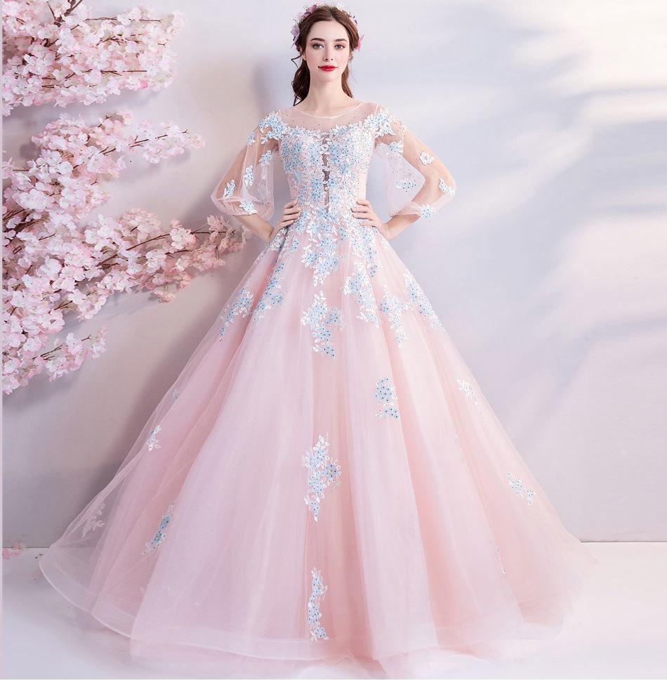 素敵なカラードレス 結婚式 披露宴 お色直し 二次会 パーティー 演奏会 発表会 ステージ衣装 TS301_画像5