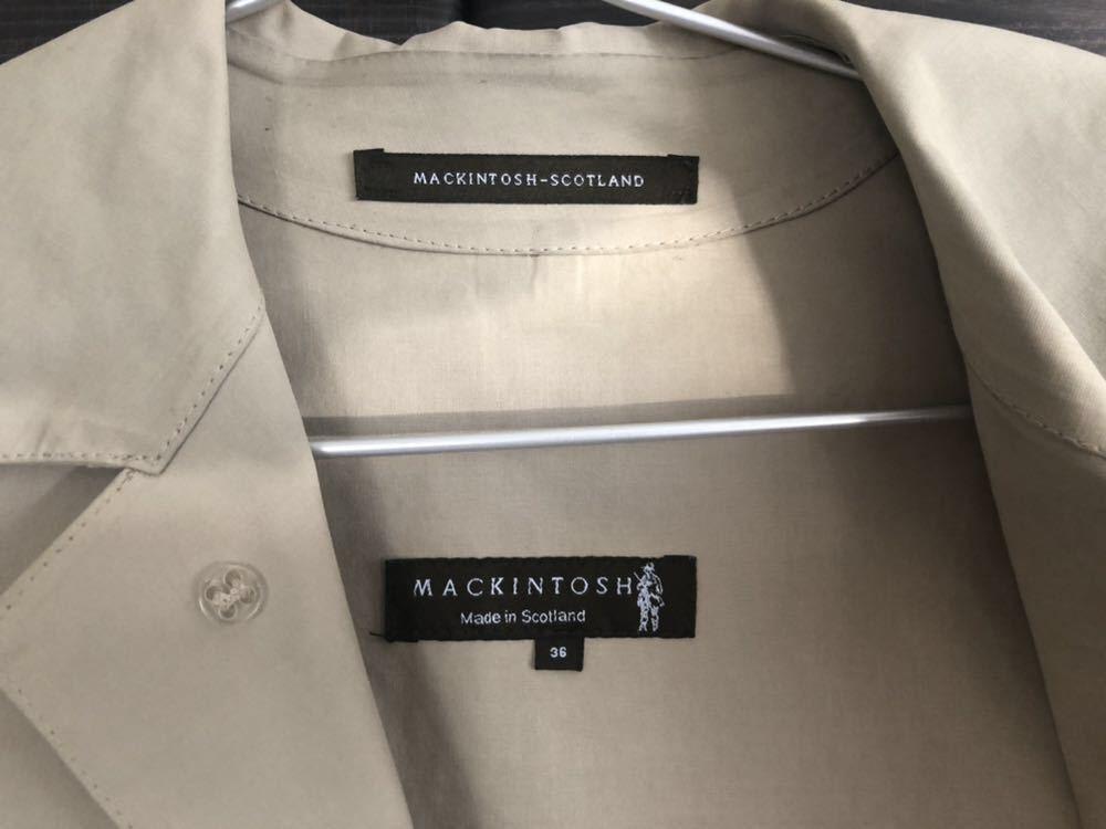 MACKINTOSH マッキントッシュ メンズ コート トレンチ ゴム引き 36 ベージュ_画像2