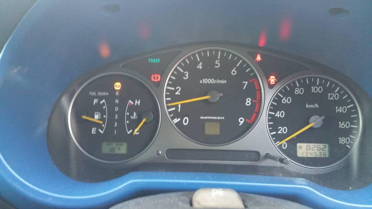 陸送可能 インプレッサ GDA セダン 2.0L EMPI DOHC ターボ フルタイム4輪駆動 スポーツシフト WRブルー マイカ タイミングベルト交換済み_画像7