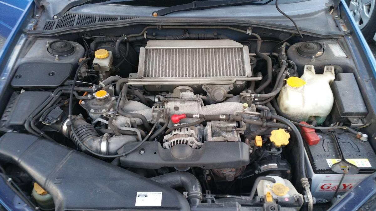 陸送可能 インプレッサ GDA セダン 2.0L EMPI DOHC ターボ フルタイム4輪駆動 スポーツシフト WRブルー マイカ タイミングベルト交換済み_画像8
